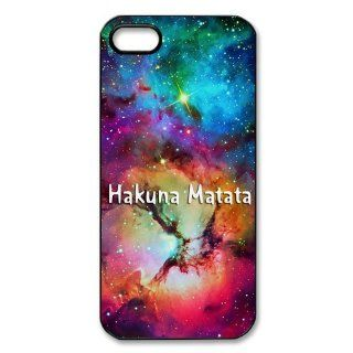 Custom Hakuna Matata Cover Case for iPhone 5/5s WIP 2799 Cell Phones & Accessories
