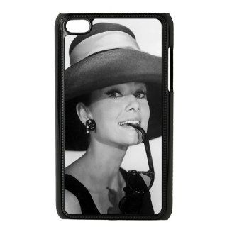 Personalized Cover Beautiful Star Audrey Hepburn Cheap Hard Snap On Case Cover For Ipod Touch 4 Ipod4 AX51612   Players & Accessories