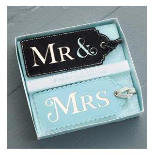 Mindy Weiss for Two's Company   Mr. and Mrs His and Hers Set of 2 Luggage Tags in Gift Box Clothing