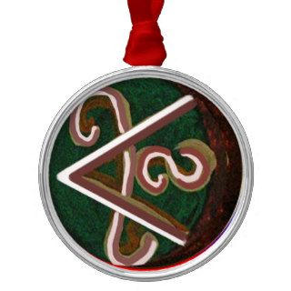 SHANTI Symbol  for Peace Lovers Christmas Ornament