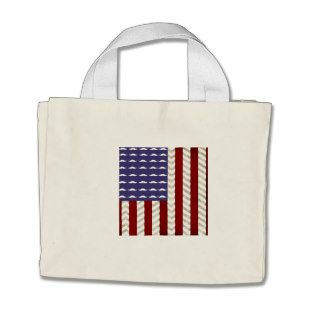 American flag, funny mustaches & chevron pattern canvas bag