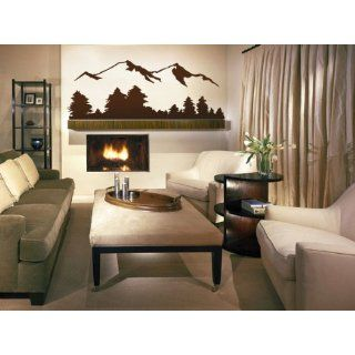 Vinyl Wall Art Decal Sticker Snow Mountain View Large Scenery   Automotive Decals
