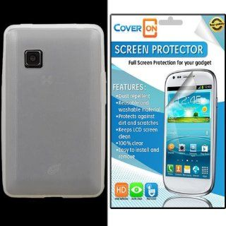 CoverON� LG 840G Silicone Rubber Soft Skin Case Cover Bundle with Clear Anti Glare LCD Screen Protector   Clear Cell Phones & Accessories