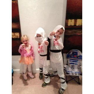 Haunted House Child's White Ninja Costume, Small Clothing