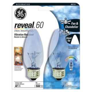 GE Reveal 60 Watt Decorative Fan & Chandelier Li