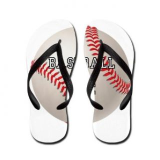 Artsmith, Inc. Women's Flip Flops (Sandals) Baseball Equals Life Clothing