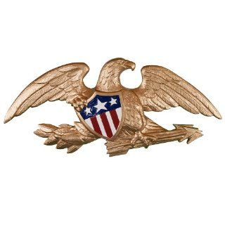Montague Metal Products Deluxe Flagpole Wall Eagle, 23 Inch, Gold  Wall Sculptures  Patio, Lawn & Garden