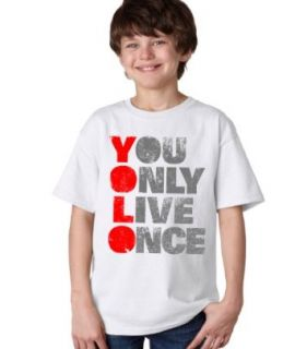 YOU ONLY LIVE ONCE (YOLO) Tee Youth T shirt / Optimist, Carpe Diem Tee Shirt Clothing