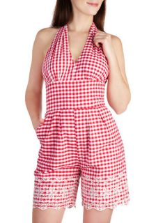 Tatyana/Bettie Page Take a Picnic Romper  Mod Retro Vintage Shorts