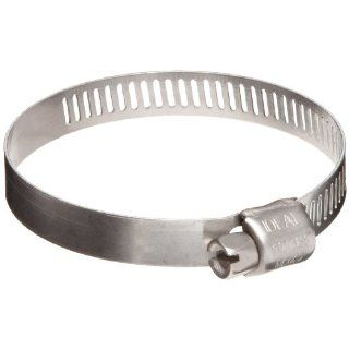 "Ideal 62M Series Stainless Steel Ear Hose Clamp, 1"" Clamp ID, 2""Clamp OD, Band Width, Pack Of 10 Single Ear Clamps"