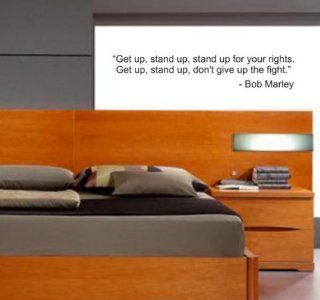 Get up Stand up BOB MARLEY QUOTE decal sticker wall jamaica reggae rasta music beautiful modern cool   Wall Decor Stickers