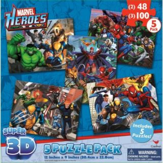 Marvels Avengers Assemble Super 3D Puzzle Pack