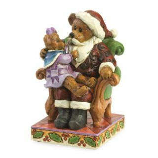 Jim Shore Boyds Bears   Santa with HollyChristmas Wishes   Holiday Figurines