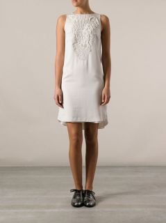Brunello Cucinelli Rope Embroidered Floral Dress