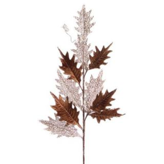 Club Pack of 12 Brown and Champagne Gold Holly Leaf Christmas Sprays 32 Christmas Decor