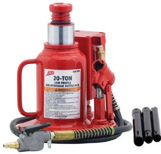 ATD Tools 7372 Low Profile Air/Hydraulic Bottle Jack   20 Ton Capacity Automotive