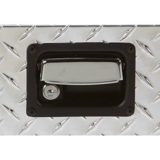 Aluminum Single-Lid Crossbed Truck Box — Diamond Plate, 67 3/4in.L x 20 1/2in.W  x 14in.H