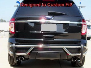 Premium Custom Fit 11 14 Ford Explorer Stainless Steel Rear Bumper Guard Nerf Push Bar (Mounting Hardware included) Automotive