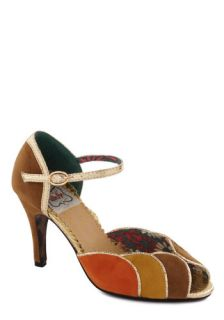 Tatyana/Bettie Page Colorful Complement Heel in Tan  Mod Retro Vintage Heels