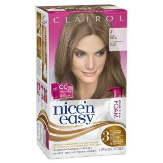 Clairol Nice 'n Easy Foam Hair Color 7 Dark Blonde 1 Kit (packaging may vary)  Chemical Hair Dyes  Beauty