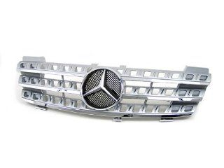 05 06 07 08 Mercedes Benz ML W164 ML270 ML320 ML350 ML420 ML500 Facelift Look Front Grille Silver Automotive
