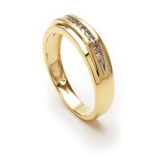 New Mens Genuine Diamond Ring, Yellow Gold Band Rumors Jewelry Company Jewelry
