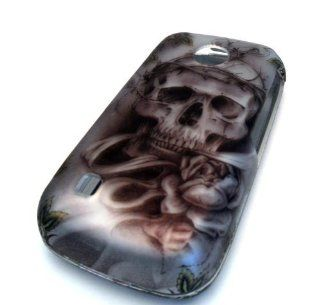 Lg Beacon Mn270 Skull Head Thorn Hard Case Cover Skin Protector Metro PCS mn 270 Cell Phones & Accessories