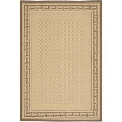 Indoor/ Outdoor Natural/ Brown Rug (53 X 77)