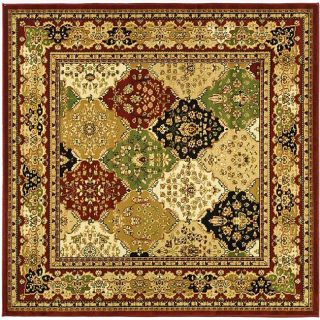 Lyndhurst Collection Multicolor/red Polypropylene Rug (8 Square)