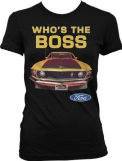 Who's The Boss Ford Mustang BOSS 302 Juniors T shirt, Officially Licensed Ford Mustang Design Juniors Shirt Clothing