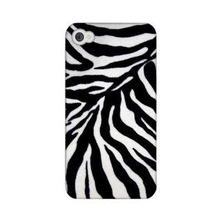 [Geeks Designer Line] Zebra Print Apple iPhone 4 / 4S Plastic Case Cover [Anti Slip] Supports Premium High Definition Anti Scratch Screen Protector; Durable Fashion Snap on Hard Case; Coolest Ultra Slim Case Cover for iPhone 4 / 4S Supports Apple 4 / 4S De