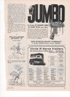 Jim Shoulders Jumbo All Round Special Super Deluxe Western Saddle Schoellkopf Company Circle H Horse Trailers 1967 Farm Antique Advertisement  Prints