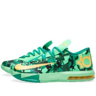 Nike KD VI LAM Kids Shoes LT Lucid Green/Gorge Green/Atomic Mango 599477 303 Shoes