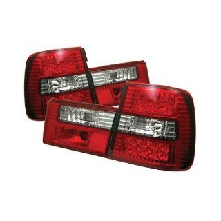 Spyder BMW E34 5 Series 88 95 LED Tail Lights   Red Clear Automotive