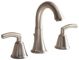 American Standard 7038.801.295 Tropic Two Lever Handle Widespread Lavatory Faucet with Metal Speed Connect Pop Up Drain, Satin Nickel   Touch On Bathroom Sink Faucets