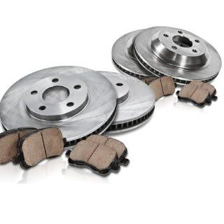 Callahan FRONT 315.7 mm + 307.7 mm REAR Premium Grade OE [4] Rotors + [8] Quiet Low Dust Ceramic Brake Pads Kit CK003036 Automotive
