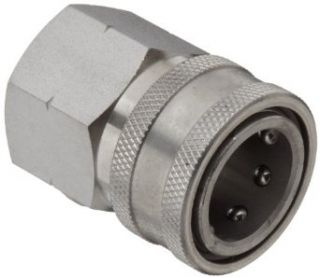 "Dixon STFC6SS Stainless Steel 303 Hydraulic Quick Connect Fitting, Coupler, 3/4"" Female Coupling, 3/4"" 14 Straight Thread Quick Connect Hose Fittings"
