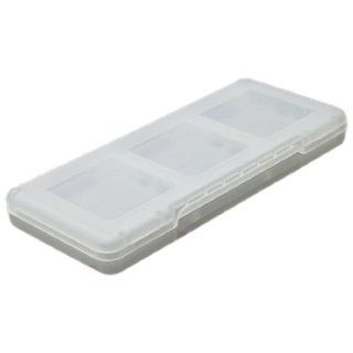 Clear White Hard Plastic Portable Memory Card Case Cell Phones & Accessories