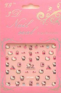 Hello Kitty Nail Art Stickers 2pk (XF306)  Kids Nail Art Stickers  Beauty