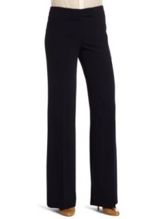 AK Anne Klein Women's Stretch Crepe Wide Leg Pant, Midnight Sky, 2