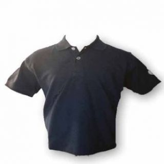 Boys pique polo shirt in black Clothing