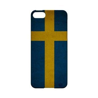 [Geeks Designer Line] Grunge Sweden Apple iPhone 5 Plastic Case Cover [Anti Slip] Supports Premium High Definition Anti Scratch Screen Protector; Durable Fashion Snap on Hard Case; Coolest Ultra Slim Case Cover for iPhone 5 Supports Apple 5 Devices From Ve