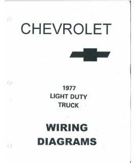 1977 Chevrolet Truck Electrical Wiring Diagrams Schematics Manual Book Factory Automotive
