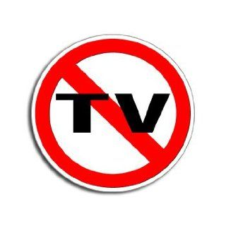 NO TV   Television   Window Bumper Laptop Sticker Automotive