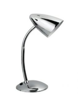 Lite Source LS 2602C Bullet II Gooseneck Desk Lamp, Chrome   Modern Desk Lamp