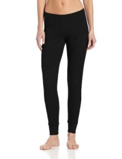 Jockey Women's Waffle Knit Thermal Legging, Black, Small