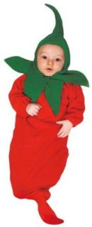 Rubie's Red Hot Chili Pepper Baby Bunting Costume Infant And Toddler Costumes Clothing