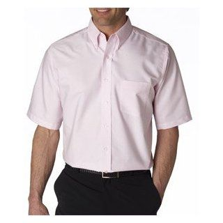 High Quality Men?s Classic Wrinkle Free Short Sleeve Oxford   Pink Clothing
