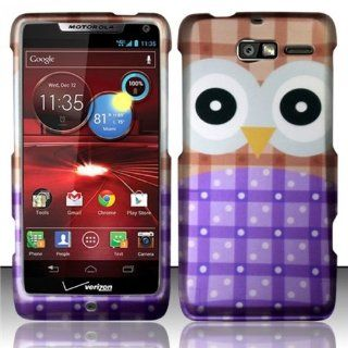 For Motorola Droid RAZR M 4G LTE XT907 Rubberized Hard Design Case Cover   Big Eyes Owl Cell Phones & Accessories