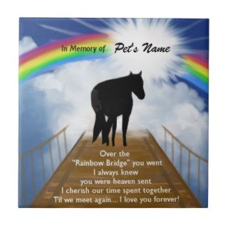 Rainbow Bridge Memorial Poem for Horses Ceramic Tile